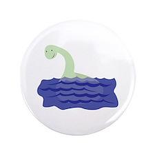 """Loch Ness Monster 3.5"""" Button"""