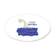 Loch Ness Oval Car Magnet