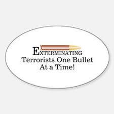Exterminating Terrorists Oval Decal