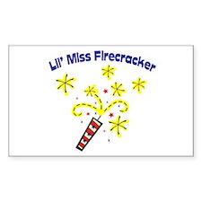 Lil' Miss Firecracker Rectangle Decal