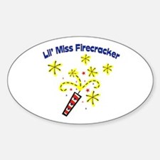 Lil' Miss Firecracker Oval Decal