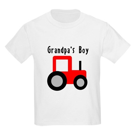 Red Tractor - Grandpa's Boy Kids Light T-Shirt