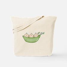 Three Peas in Pod Tote Bag