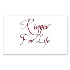 Ringer for Life 1 Rectangle Decal