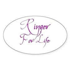 Ringer for Life 2 Oval Decal