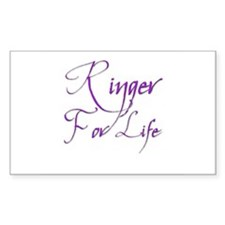 Ringer for Life 3 Rectangle Decal