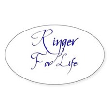 Ringer for Life 4 Oval Decal
