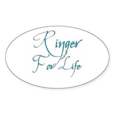 Ringer for Life 5 Oval Decal