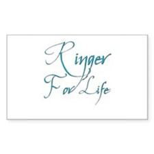 Ringer for Life 5 Rectangle Decal