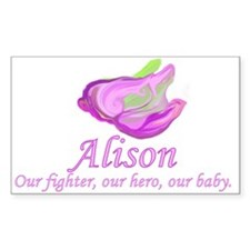 Baby Alison Rectangle Decal