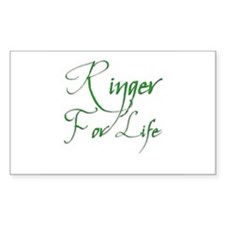 Ringer for Life 6 Rectangle Decal