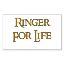 Ringer for Life 8 Rectangle Decal