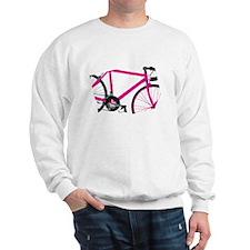Bicycle Pink Abstract Art Sweatshirt