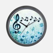 Musical Garden Wall Clock