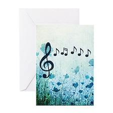 Musical Garden Greeting Cards