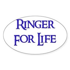 Ringer for Life 11 Oval Decal