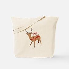 Reindeer Christmas Vixen Tote Bag
