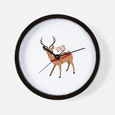 Reindeer Christmas Vixen Wall Clock