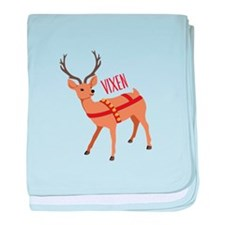Reindeer Christmas Vixen baby blanket