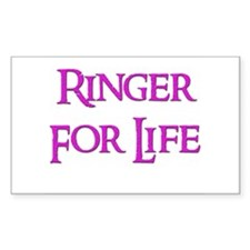 Ringer for Life 13 Rectangle Decal