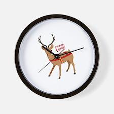 Reindeer Christmas Cupid Wall Clock