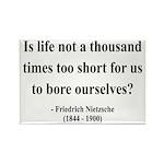 Nietzsche 12 Rectangle Magnet (10 pack)