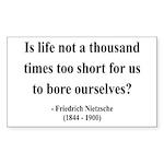 Nietzsche 12 Rectangle Sticker