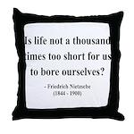 Nietzsche 12 Throw Pillow