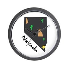 Nevada State Wall Clock