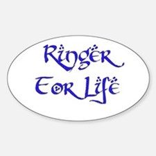 Ringer for Life 18 Oval Decal