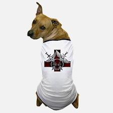 Alien Skull N Crossbones Red Dog T-Shirt
