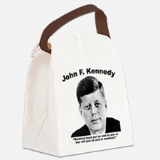 JFK War Canvas Lunch Bag
