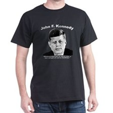 White JFK War T-Shirt