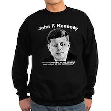 White JFK War Sweatshirt