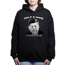 White JFK War Women's Hooded Sweatshirt