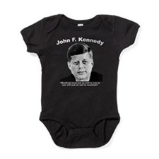 White JFK War Baby Bodysuit