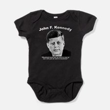 White JFK War Baby Bodysuit
