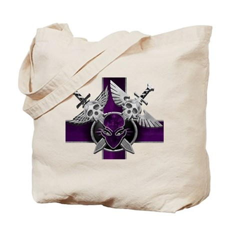 Swords w/ Alien Crest Purple Tote Bag