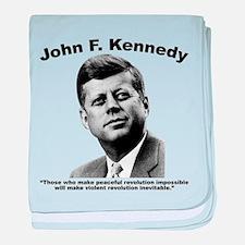 JFK Revolution baby blanket