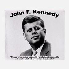 JFK Revolution Throw Blanket