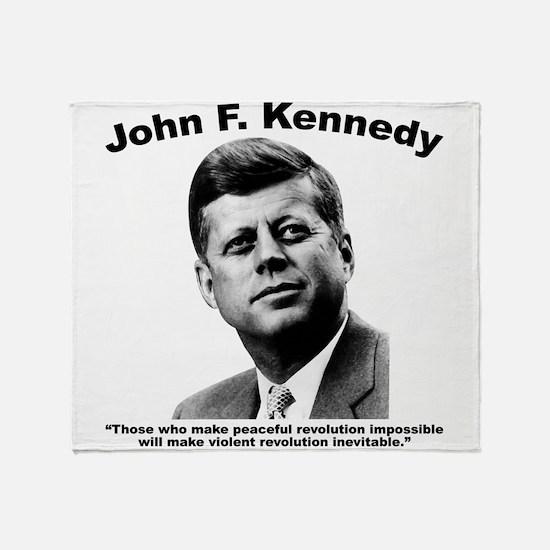JFK Revolution Throw Blanket
