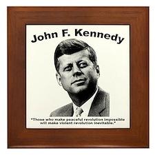 JFK Revolution Framed Tile
