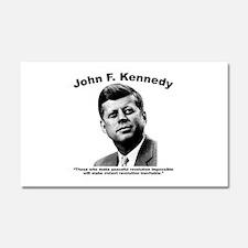 JFK Revolution Car Magnet 20 x 12