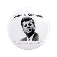 "JFK Revolution 3.5"" Button"