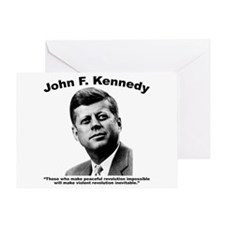 JFK Revolution Greeting Card