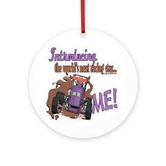 Future Gokart Racer Ornament (Round)