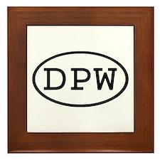 DPW Oval Framed Tile