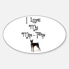 Min Pin 1 Oval Decal