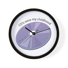 CD's Were My Childhood Wall Clock