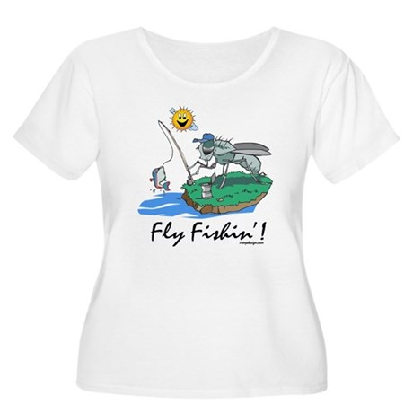 Fly Fishing Women's Plus Size Scoop Neck T-Shirt